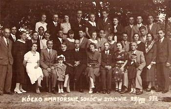 Kółko Amatorskie Sokół w Dynowie, 29.08.1937 rok (Zb. G. Szajnik)